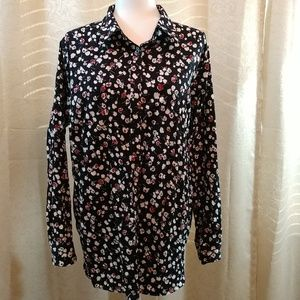 Chaps flowered button down